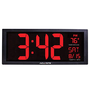 3. AcuRite 75127 Oversized LED Clock