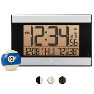 4. Marathon Atomic Digital Wall Clock (CL030052GG)