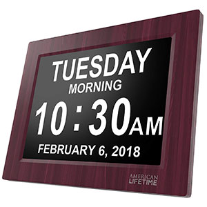 1. American Lifetime Day Clock (Premium Mahogany Color)