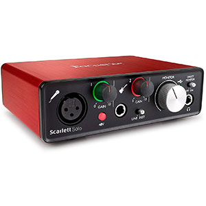 1. Focusrite Scarlet Solo USB Audio Interface