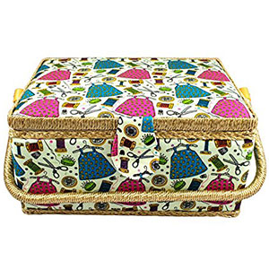 4. Tidy Crafts Fabric Covered Sewing Basket