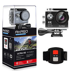1. AKASO EK7000 Waterproof Sports Camera