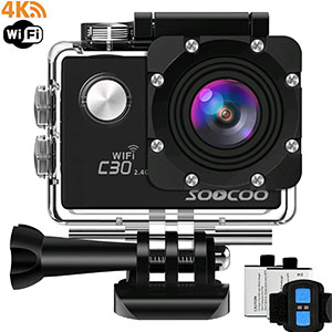 10. Soocoo 4K Waterproof Sports Camera