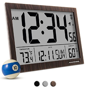 5. Marathon Atomic Digital Wall Clock (CL030062WD)