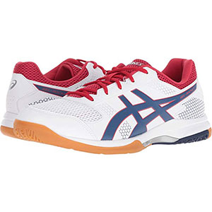 3. Asics Gel Rocket 8 White Men Volleyball Shoes