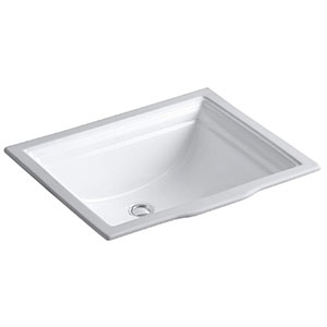 9. Kohler Undercounter Bathroom Sink (K-2339-0)