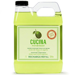 8. Cucina Lime Zest and Cypress Hand Wash Refill