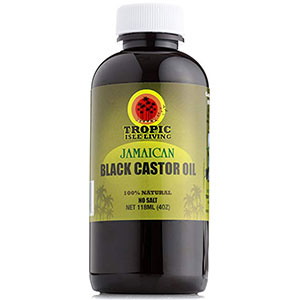 3. Tropic Isle Living 4oz Black Castor Oil (Jamaican)