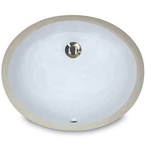 5. Nantucket Sinks Oval Ceramic Undermount Vanity Sink