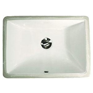 1. Nantucket Sinks Rectangle Ceramic Undermount Vanity (White)