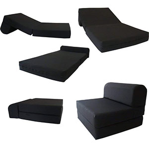 3. Futonfurnitures Chair Folding Foam Bed