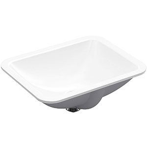 10. Kohler K-20000-0 Rectangle Undermount Bathroom Sink