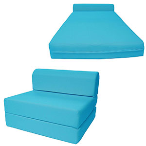 9. D&D Futon Furniture Chair Folding Foam Bed (Turquoise)