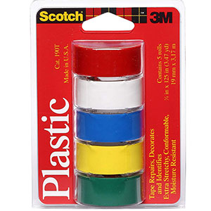 8. Scotch Waterproof Vinyl Plastic Colored Tape