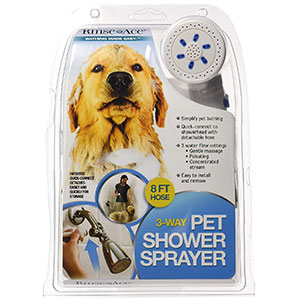 1. Rinse Ace 3 Way Pet Shower Sprayer