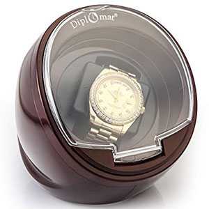 9. Diplomat Single Burgundy Watch Winder