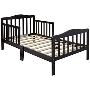 1. Orbelle Espresso Toddler Bed