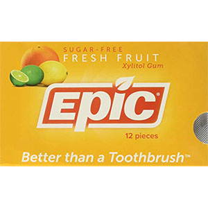 8. Epic Dental Gum Without Aspartame