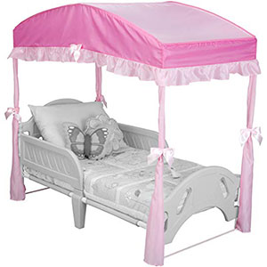 10. Delta Children Girls Canopy for Toddler Bed