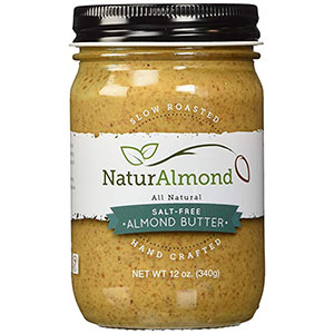 1. NaturAlmond Salt-Free Almond Butter