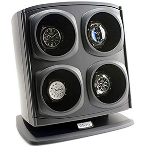6. Versa Watch Winder in Black - Quad