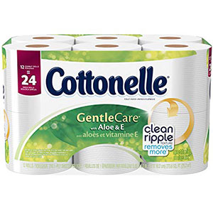 10. Cottonelle Double Roll Toilet Paper (12 Count)