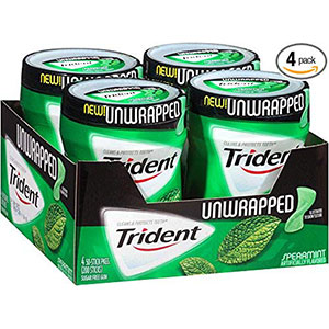 10. Trident Spearmint Gum Without Aspartame