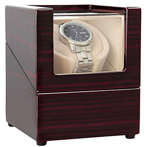 1. CHIYODA Wooden Watch Winder - Single