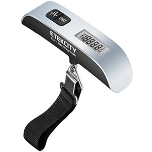 3. Etekcity Silver Digital Hanging Luggage Scale