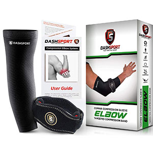 7. DashSport Tennis Elbow Brace