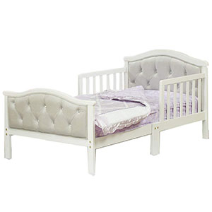 7. Orbelle Trading Padded Toddler Bed