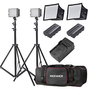 6. Neewer 2x160 LED Dimmable Lighting Kit