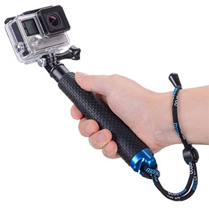 "3. Vicdozia 19"" Waterproof Adjustable Extension Selfie Stick"