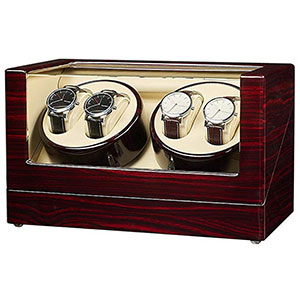 3. JQUEEN Watch Winder with Quiet Motors