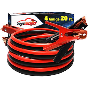 2. EPAuto 500A Booster Jumper Cables (20AWG x 20 Feet)