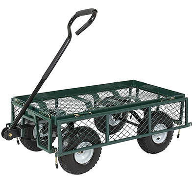 12. Best Choice Products 400lb Wagon Lawn Wheelbarrow w/Handle