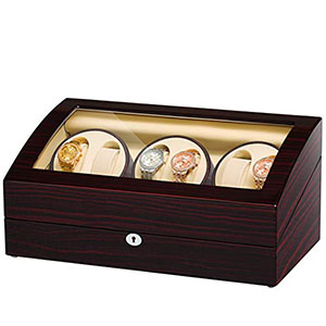 4. JQUEEN Six Watch Winders 7 Storages