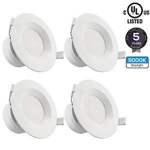 4. Torchstar 4-Pack LED Recessed Light