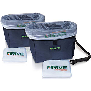 1. Drive Auto Products Car Garbage Can (2-Pack)