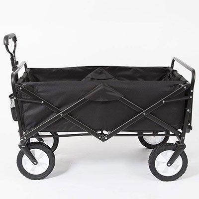 8. Mac Sports Folding Outdoor Utility Wagon with Side Table
