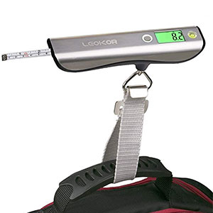 8. LEOKOR Luggage Scale Hand Scales for Travel Baggage Weight
