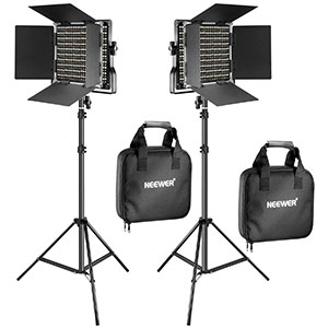 10. Neewer 2 Pieces 660 LED Video Light and Stand Kit