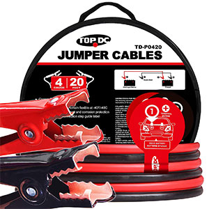 7. TOPDC Battery Jumper Cables (4AWG x 20Ft)