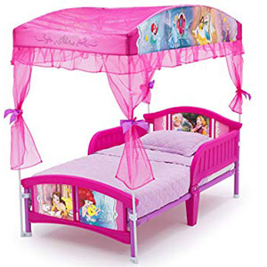6. Delta Children Canopy Toddler Bed