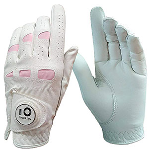 10. Finger Ten Leather Women Golf Rain Glove