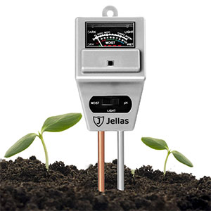 5. Jellas 3-in-1 Soil Moisture Meter