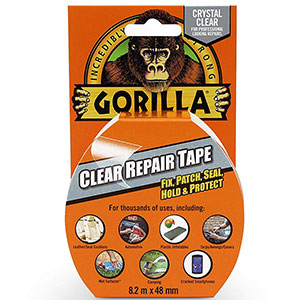 1. Gorilla Crystal Clear Duct Tape