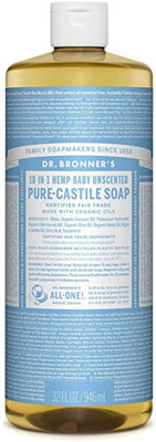 3. Dr. Bronner's Pure Castile Liquid Soap – 32oz. (Baby Unscented)