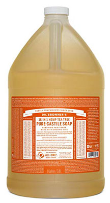9. Dr. Bronner's Pure-Castile Liquid Soap – 1 Gallon (Tea Tree)