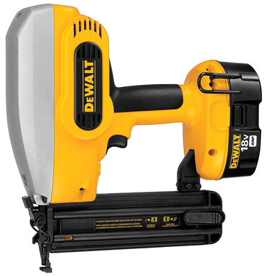4. Dewalt DC608K 18-Gauge 18-Volt Nailer Kit